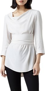Read more about Finery fountain wrap blouse white