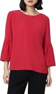 Read more about Finery felma flute sleeve blouse crimson
