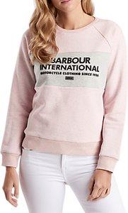 Read more about Barbour international flock print cotton sweatshirt pale pink grey