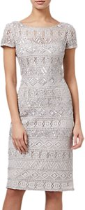 Read more about Adrianna papell beaded short dress silver