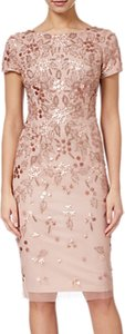 Read more about Adrianna papell floral beaded short dress rose gold