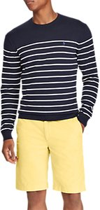 Read more about Polo ralph lauren crew neck stripe sweatshirt navy white