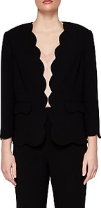 Read more about Ted baker rubeye scallop edge cropped blazer jacket black