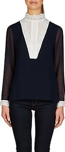Read more about Ted baker moranda high neck lace insert top dark blue white