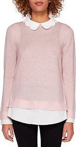 Read more about Ted baker bronwen scallop collar jumper pale pink