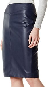 Read more about Karen millen faux leather pencil skirt navy