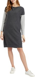 Read more about Jaeger colour block knitted dress grey plain