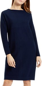 Read more about Jaeger colour block knitted dress navy