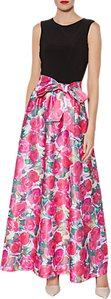 Read more about Gina bacconi bernadette floral print maxi dress pink