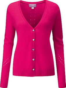 Read more about Pure collection pointelle cardigan hot pink