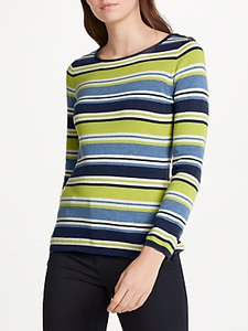 Read more about Seasalt brill stripe cotton jumper esker seagreen