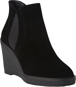 Read more about L k bennett josephine suede wedge boots black suede