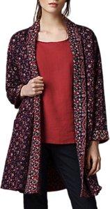 Read more about East ajrak print kantha coat indigo