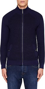 Read more about Ted baker zip ribbed jumper navy