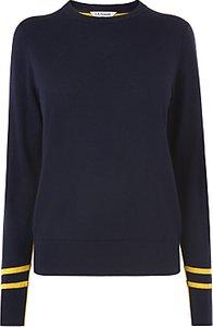 Read more about L k bennett lilis wool cotton jumper blue yellow