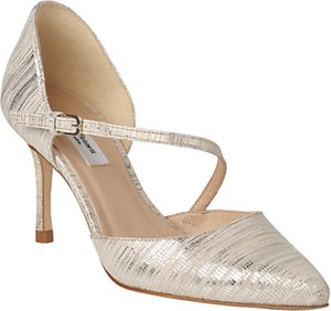 Read more about L k bennett alix stiletto heeled court shoes soft gold leather