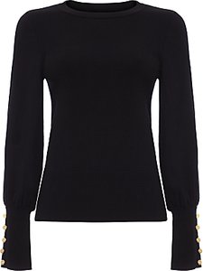 Read more about Damsel in a dress peyton button sleeve jumper black