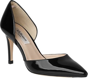 Read more about L k bennett flossie stiletto heeled court shoes black