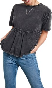 Read more about Hush frill t-shirt washed black