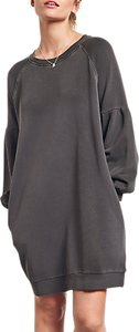 Read more about Hush puff sleeve sweatshirt dress washed black