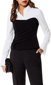 Read more about Karen millen layered corset shirt black white