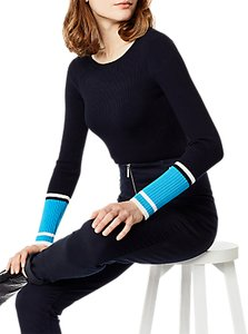 Read more about Karen millen colourblock ribbed jumper blue multi