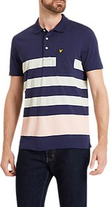 Read more about Lyle scott wide stripe short sleeve polo shirt navy