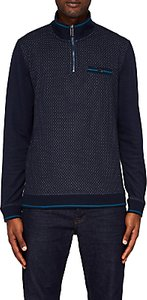 Read more about Ted baker hownd half zip funnel neck jumper navy