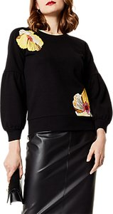Read more about Karen millen floral embroidered sweat top black multi