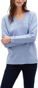Read more about Jaeger wool rich v-neck sweater blue