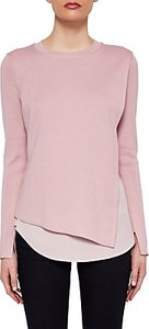 Read more about Ted baker knitted overlay jumper baby pink