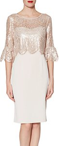 Read more about Gina bacconi crepe dress lace dress antique rose