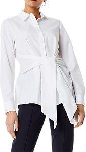 Read more about Karen millen wrap front shirt white