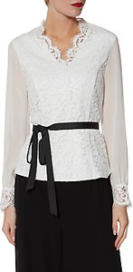 Read more about Gina bacconi sadie lace and chiffon blouse ivory