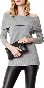 Read more about Karen millen slouchy bardot knit jumper grey