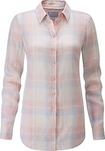 Read more about Pure collection check cotton shirt pastel