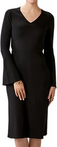 Read more about Pure collection flare sleeve jersey dress black