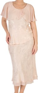 Read more about Chesca chiffon trim satin skirt