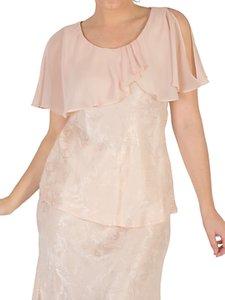 Read more about Chesca chiffon cape trim top blush