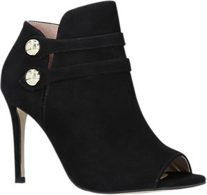 Read more about Carvela glade high heel open toe ankle boots black suede