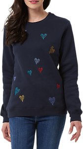 Read more about Sugarhill boutique scribble heart jumper navy