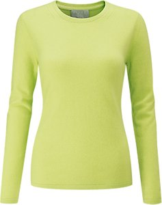 Read more about Pure collection cashmere crew neck jumper fresh lime