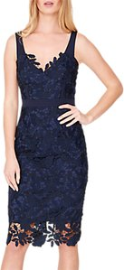 Read more about Damsel in a dress abella boned lace midi dress navy blue