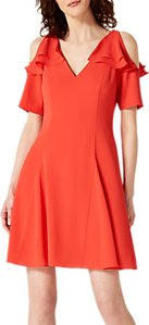 Read more about Damsel in a dress juna ruffle cold shoulder midi dress red