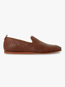 Read more about Bertie bayron woven leather slipper loafers tan