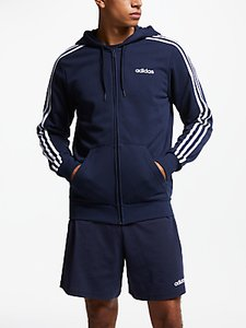 Read more about Adidas essentials 3-stripes hoodie navy