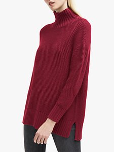 Read more about French connection mara mozart high neck jumper baked cherry