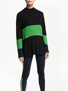 Read more about Patternity john lewis ribbed colour block jumper black green