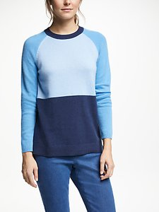 Read more about Collection weekend by john lewis colour block cashmere jumper blue
