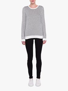 Read more about French connection textured monochrome jumper white black
